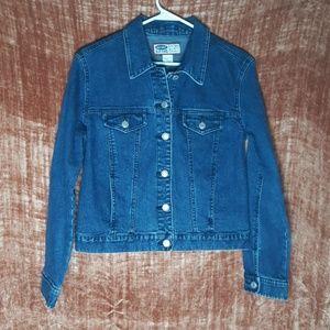 Old Navy Blue Denim Jacket w/ Horse image Size S